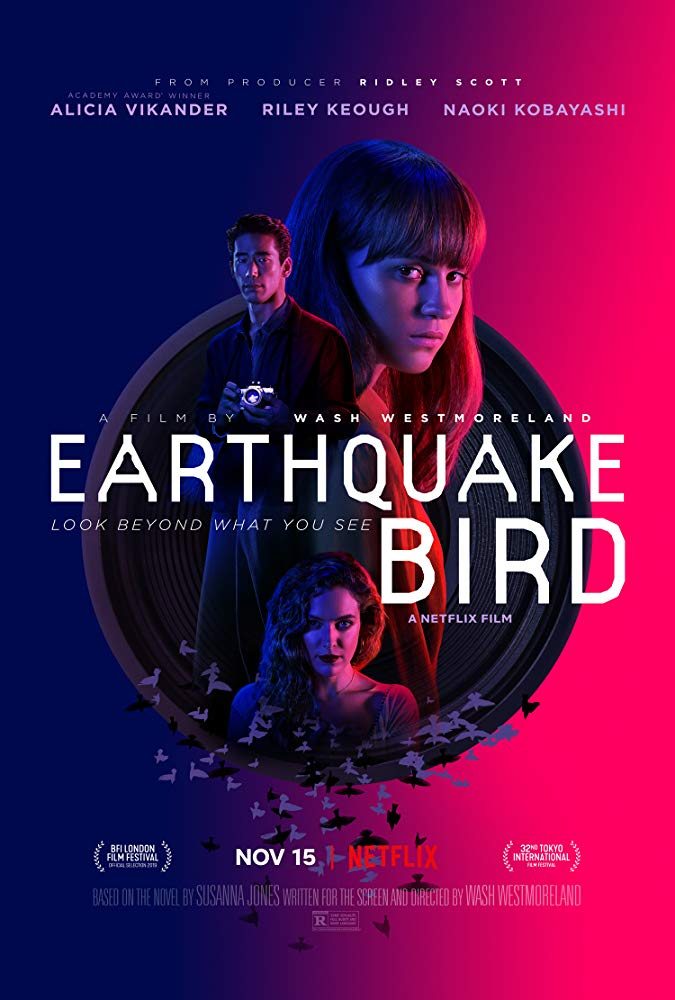دانلود فیلم پرنده زلزله Earthquake Bird 2019 سانسور شده + زیرنویس فارسی