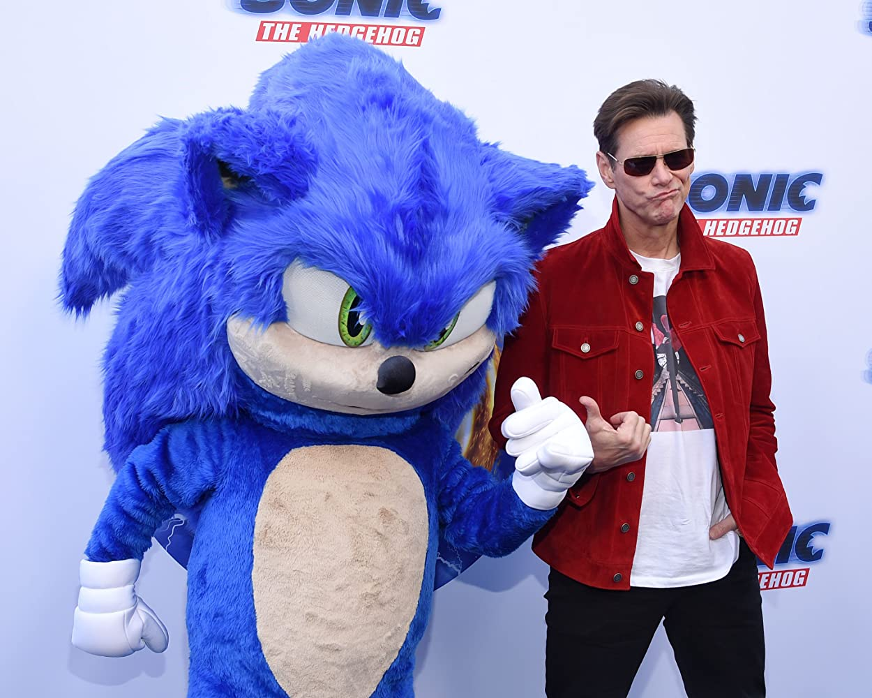 Jim Carrey at an event for Sonic the Hedgehog (2020)