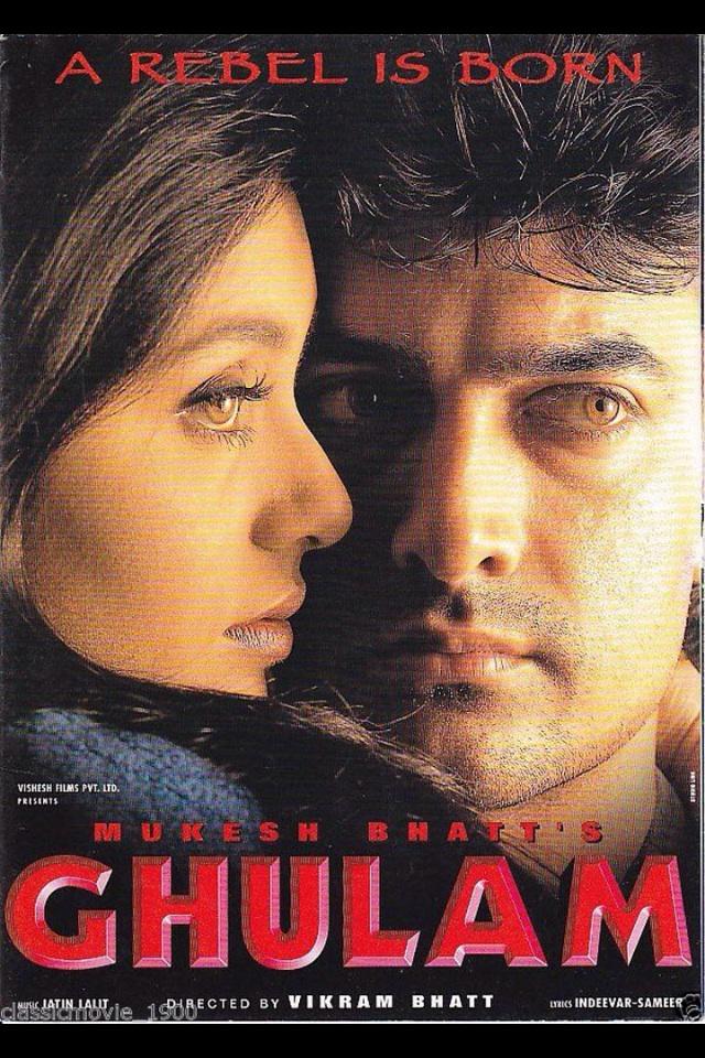 Aamir Khan and Rani Mukerji in Ghulam (1998)